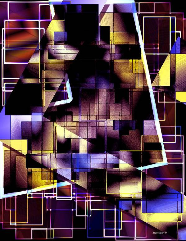 Abstract Poster featuring the digital art Lines Vs Diagonals by Mario Perez