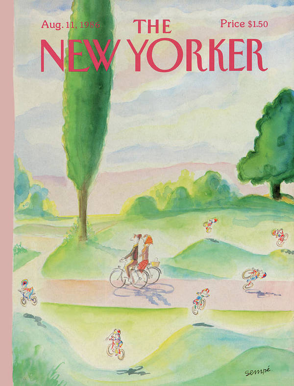 Summer Poster featuring the painting New Yorker August 11th, 1986 by Jean-Jacques Sempe