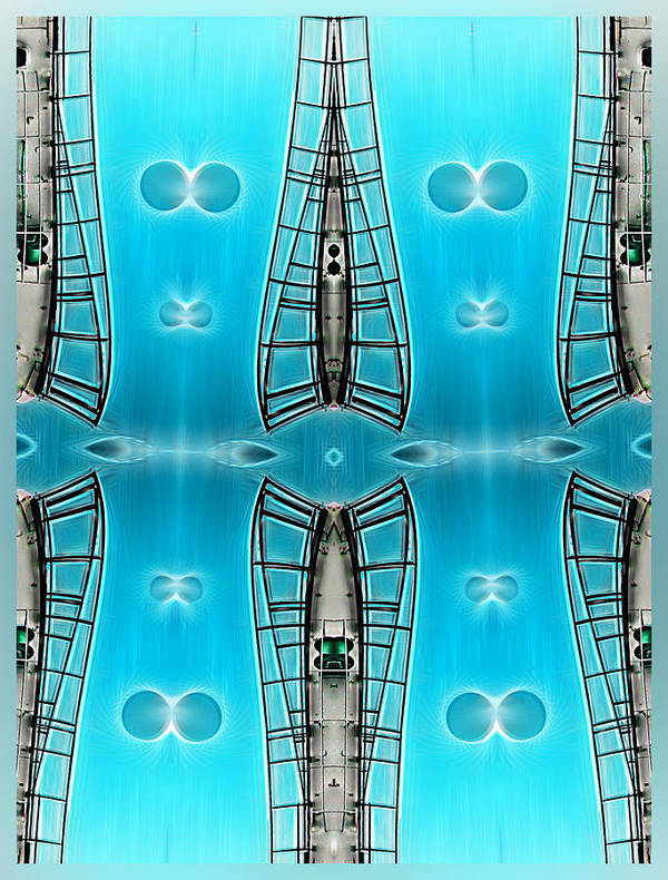 Abstract Poster featuring the digital art Sky Ladders by Wendy J St Christopher