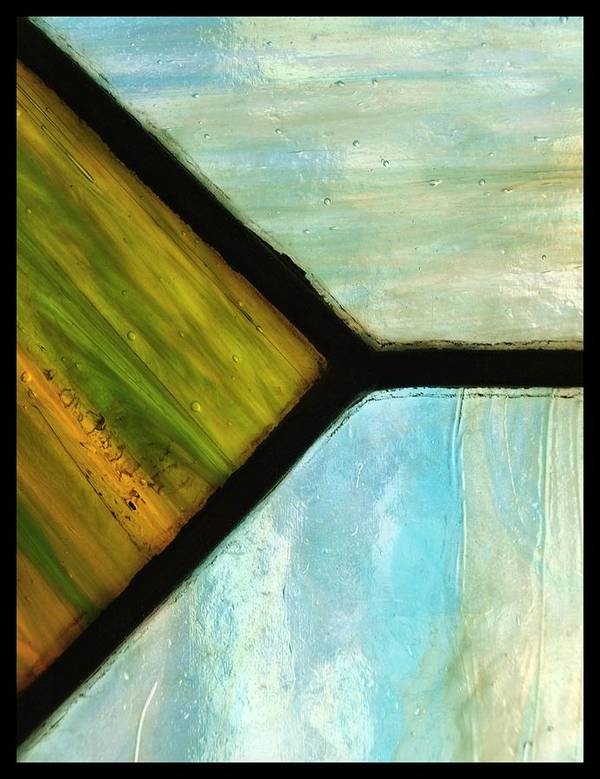 Abstract Poster featuring the photograph Stained Glass 6 by Tom Druin