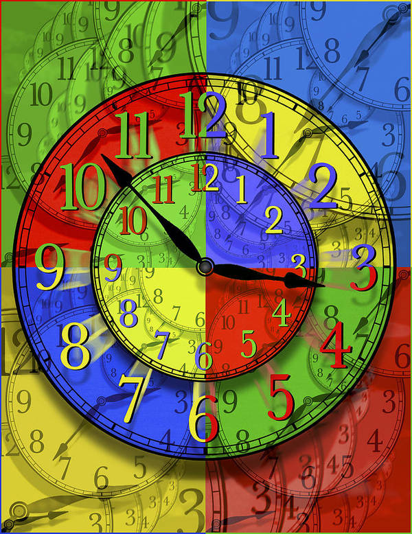 Clock Faces Poster featuring the photograph Changing Times by Mike McGlothlen