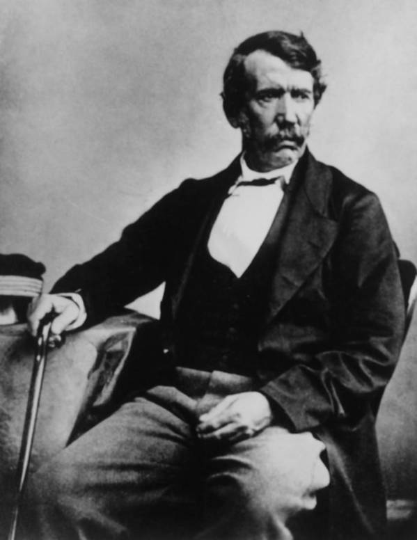 1850s Poster featuring the photograph David Livingstone, 1813-1873, Scottish by Everett