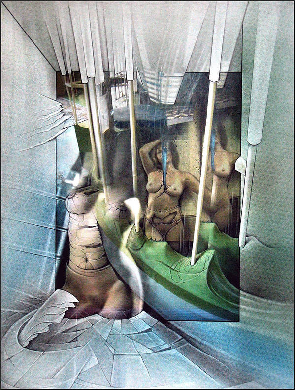 #31 Poster featuring the mixed media #31 Verticalnudecomp 2003 by Glenn Bautista