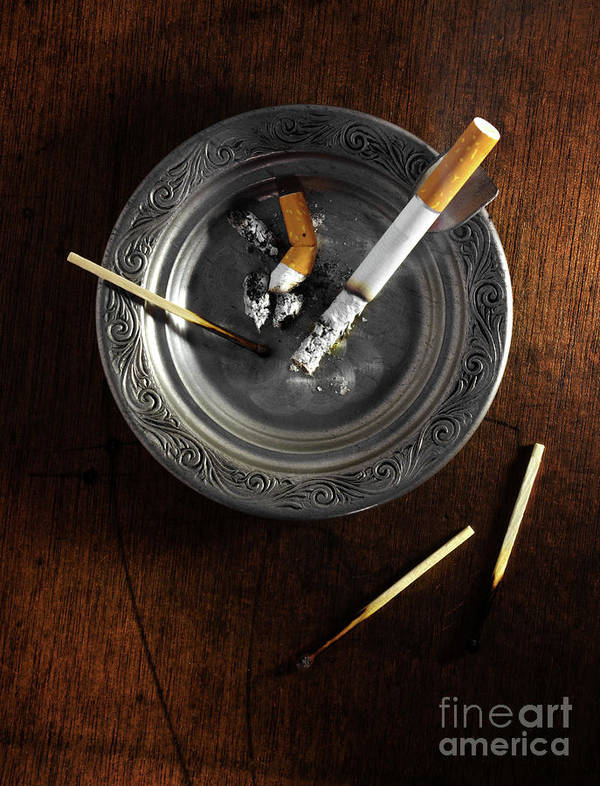 Addiction Poster featuring the photograph Ashtray by Carlos Caetano
