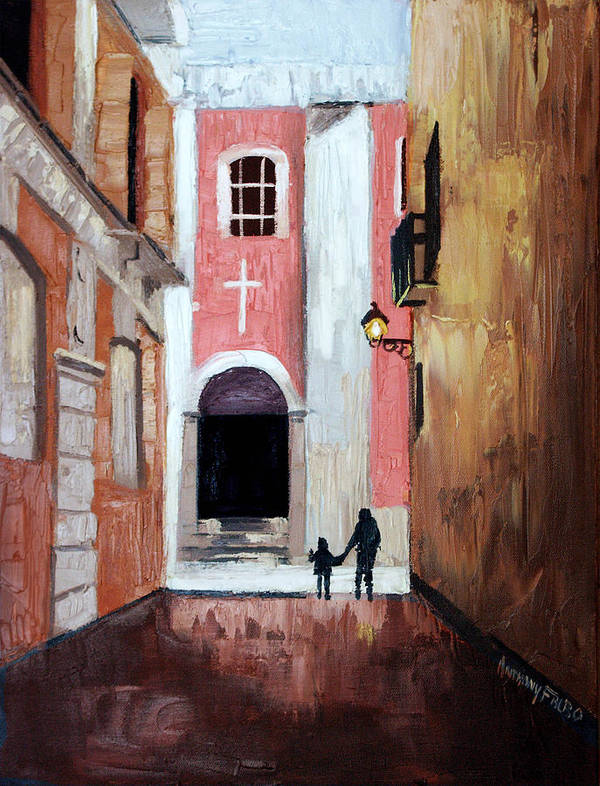 The Open Door Poster featuring the painting The Open Door by Anthony Falbo