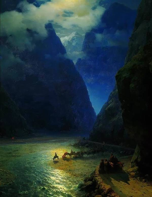 Ivan Constantinovich Aivazovsky Poster featuring the painting Landscape by MotionAge Designs