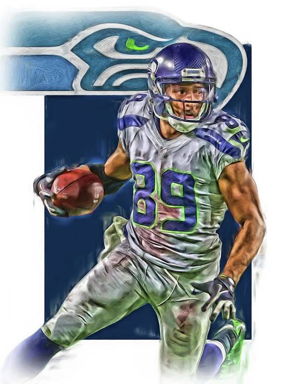 brand new c7b36 bd3e5 Doug Baldwin Seattle Seahawks Oil Art Poster