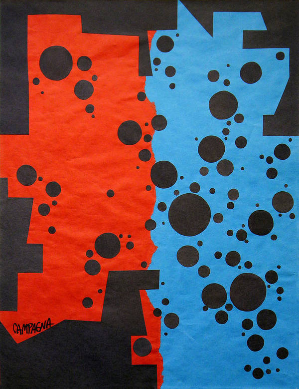 Cut Paper Poster featuring the tapestry - textile Duplicity by Teddy Campagna