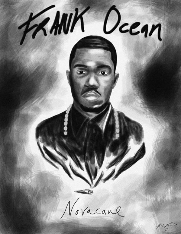 Frank Ocean Novacane Inspired Poster featuring the drawing Frank Ocean Novacane Inspired by Kenal Louis