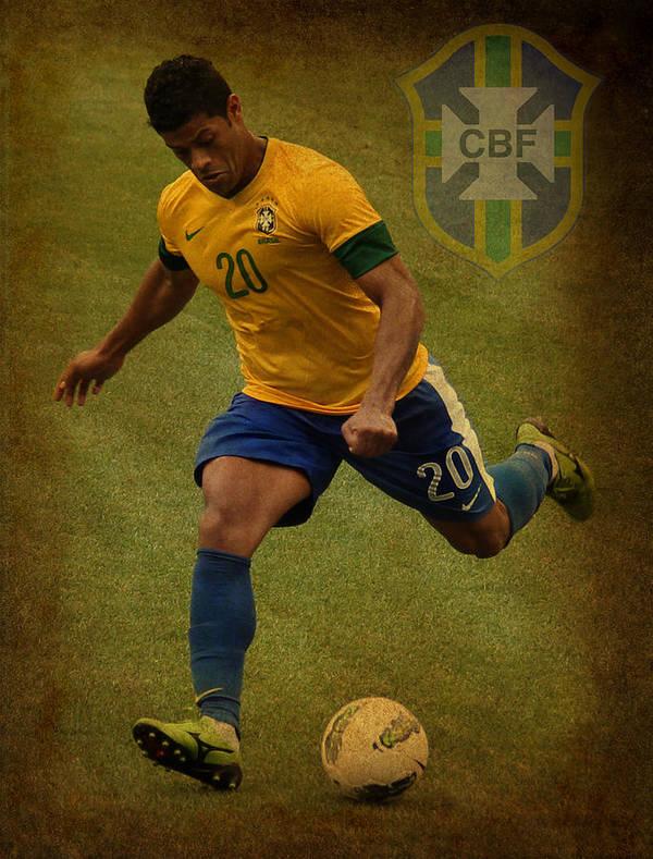 Givanildo Vieira De Souza Poster featuring the photograph Hulk Kicks Givanildo Vieira De Souza by Lee Dos Santos