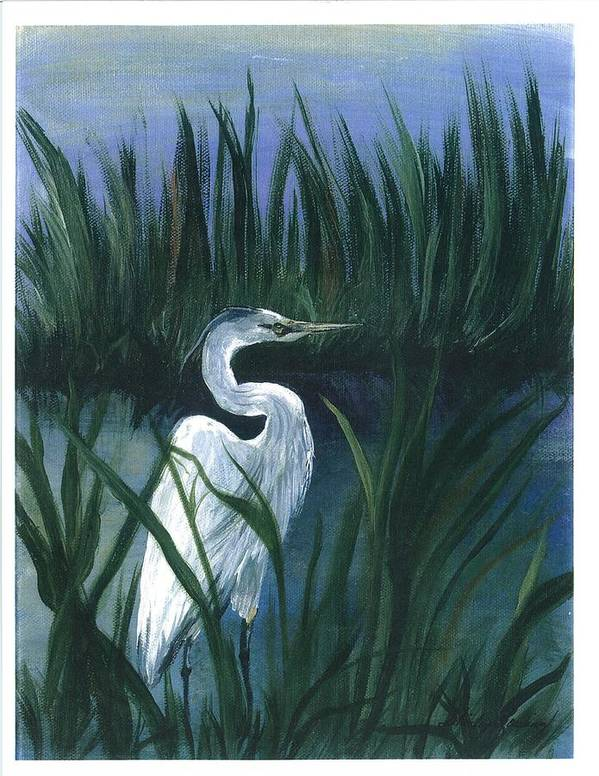 Coastal Landscape Poster featuring the painting Keep Of The Pond I by Shirley Lawing