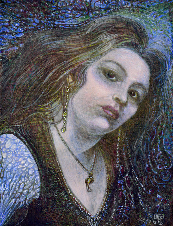 Fantasy Poster featuring the painting My Mermaid Christan by Otto Rapp