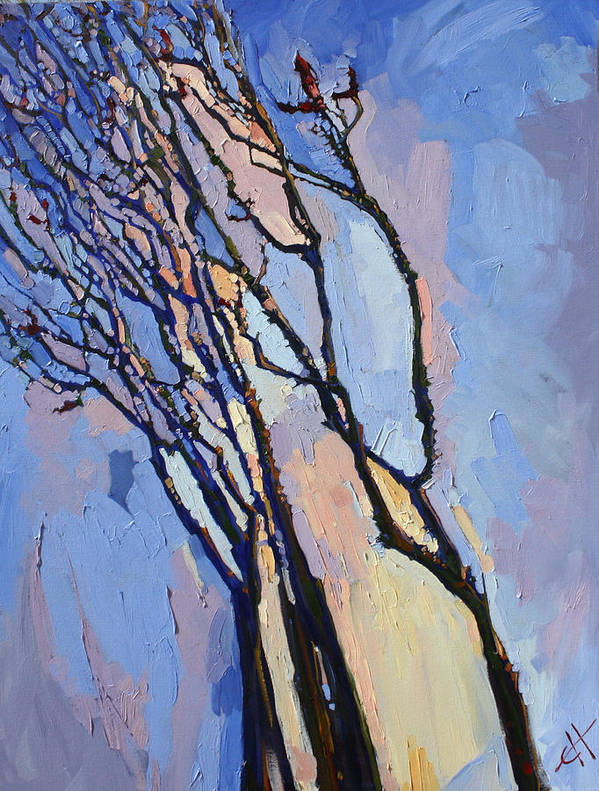 Joshua Tree Poster featuring the painting Ocotillo Blues by Erin Hanson