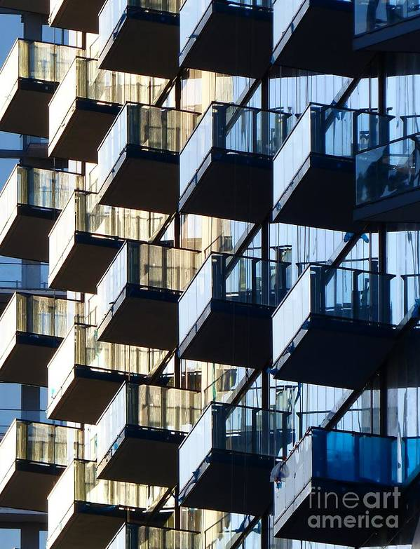 Architectural Designs Poster featuring the photograph Tiered Balconies by Carlos Amaro