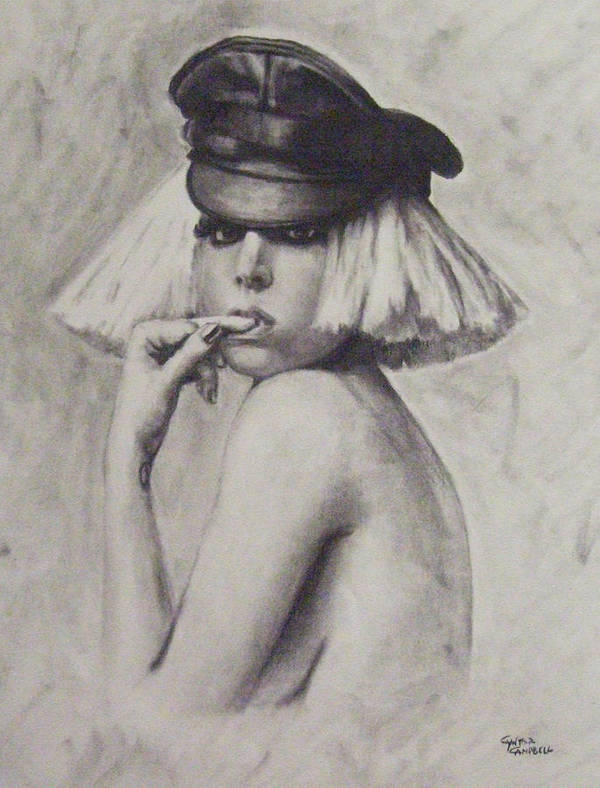 Lady Gaga Poster featuring the drawing The Fame Monster by Cynthia Campbell