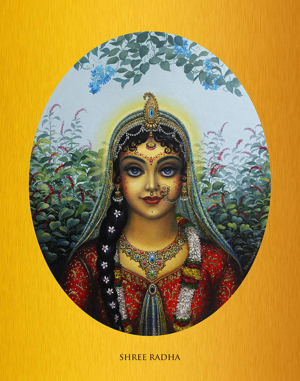 Krishna Poster featuring the painting Radha by Vrindavan Das
