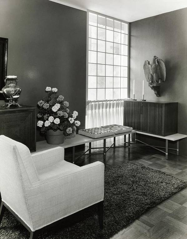Interior Design Poster featuring the photograph Room Designed By John And Earline Brice by Tom Leonard