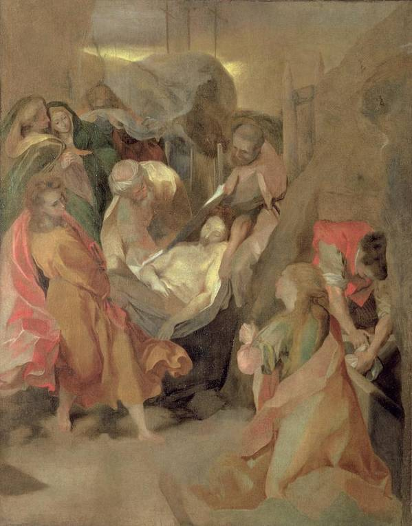 Counter-reformation Poster featuring the painting The Entombment Of Christ by Barocci