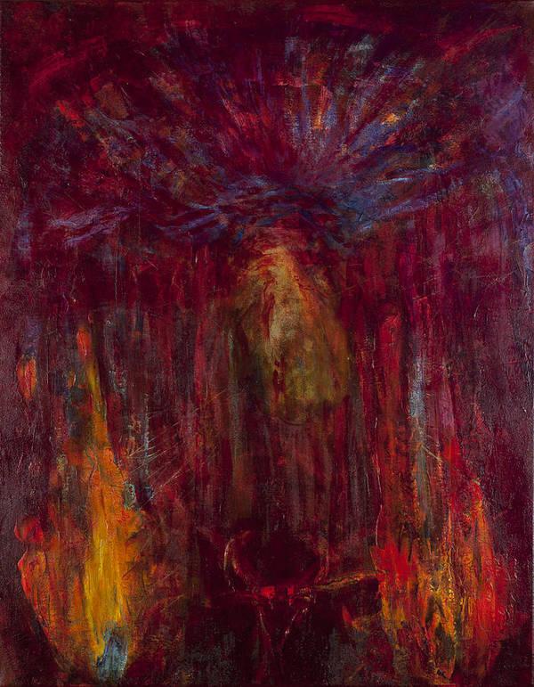 Jesus Poster featuring the painting Eli Eli Lema Sabachthani by Jonathan E Raddatz
