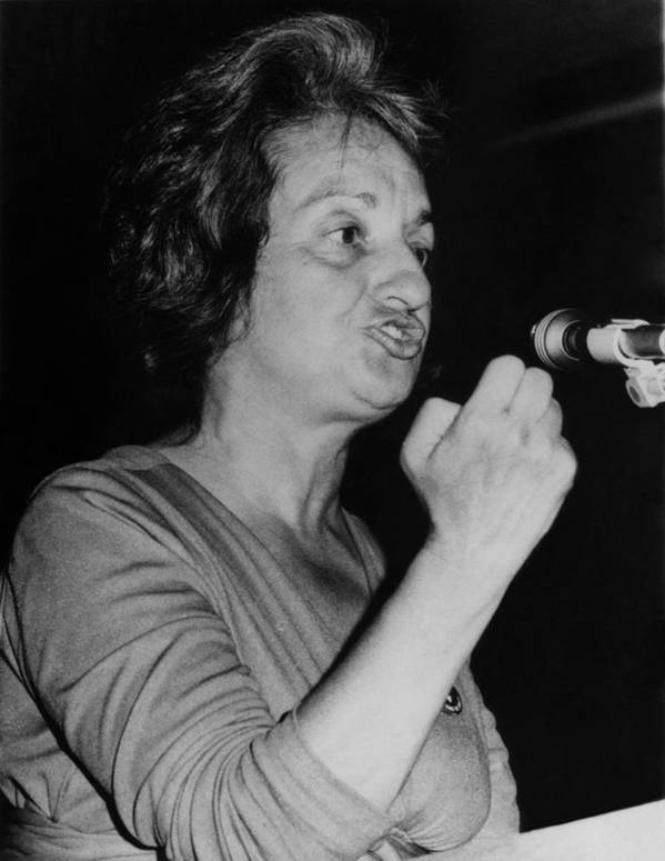 History Poster featuring the photograph Feminist Author Betty Friedan Speaking by Everett