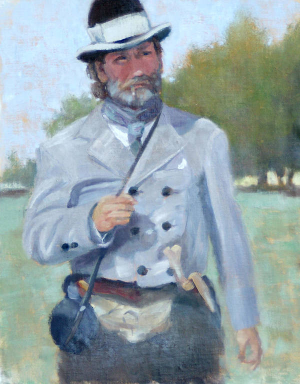 Civil War Poster featuring the painting Rebel Dandy by Sandra Harris