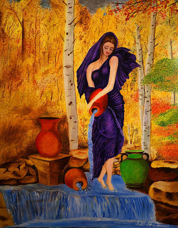 Women Poster featuring the painting Summer by Sushobha Jenner