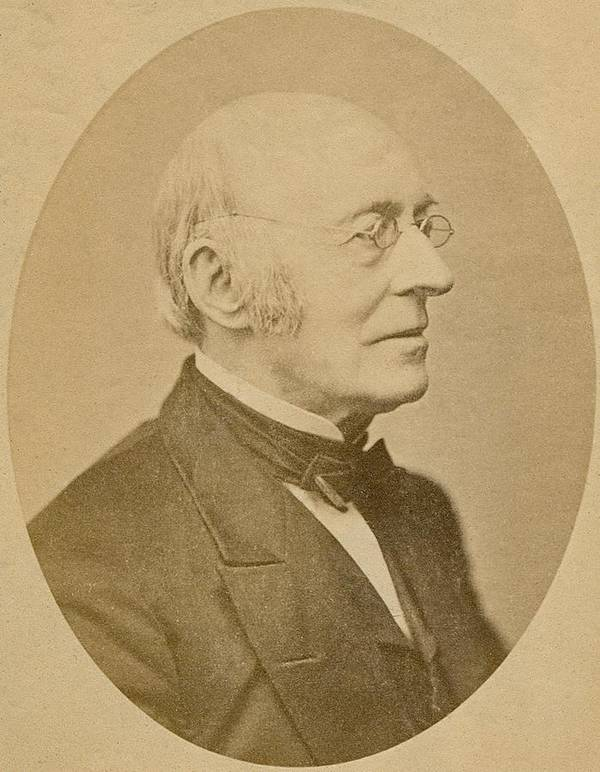 History Poster featuring the photograph William Lloyd Garrison 1805-1879 by Everett
