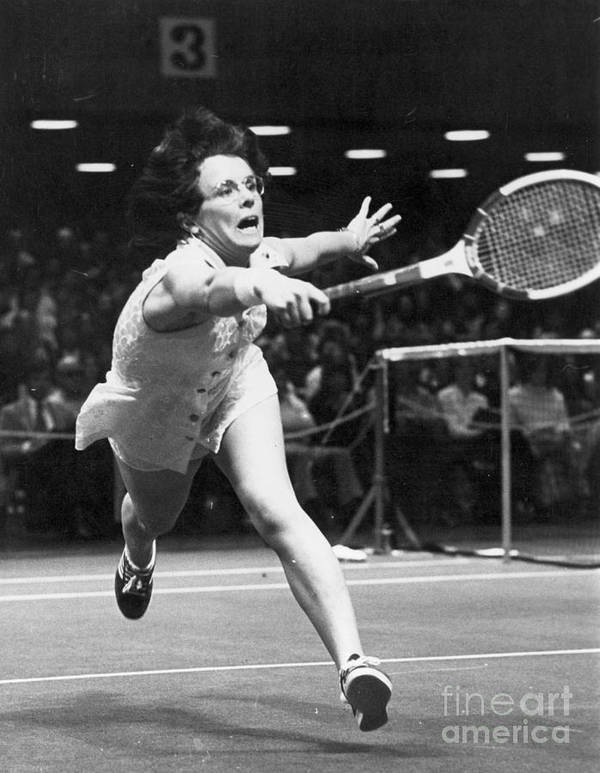 1974 Poster featuring the photograph Billie Jean King by Granger