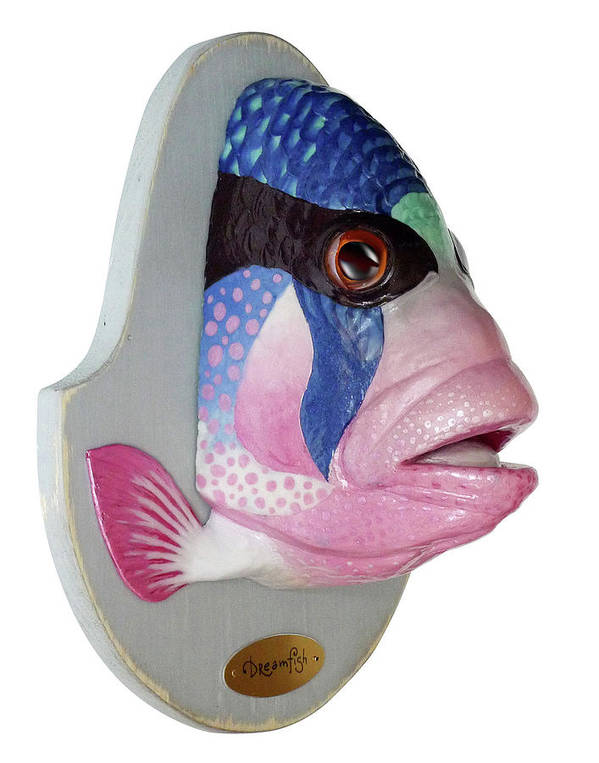 Fish Poster featuring the sculpture Dreamfish Trophy by Artem Efimov