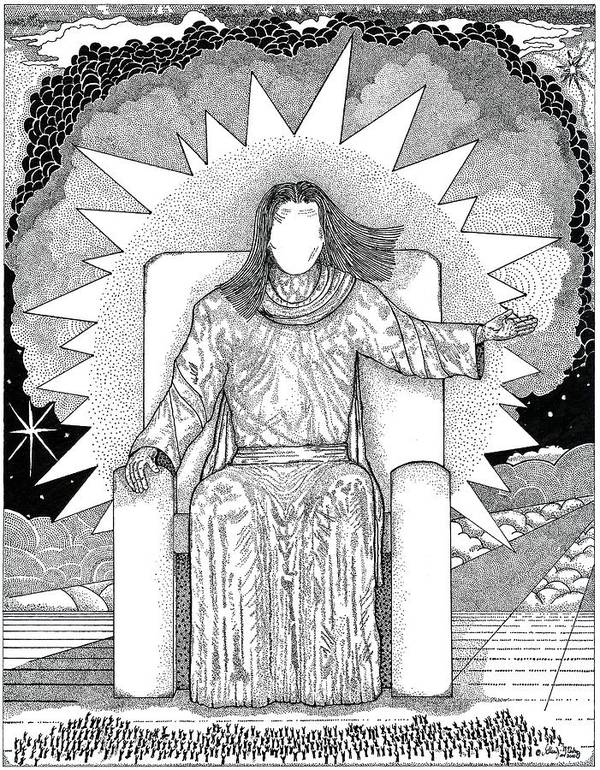 Revelation Poster featuring the drawing Revelation 20 by Glenn McCarthy Art and Photography