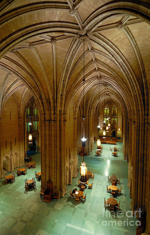 Allegheny County Poster featuring the photograph Commons Room Cathedral Of Learning - University Of Pittsburgh by Amy Cicconi
