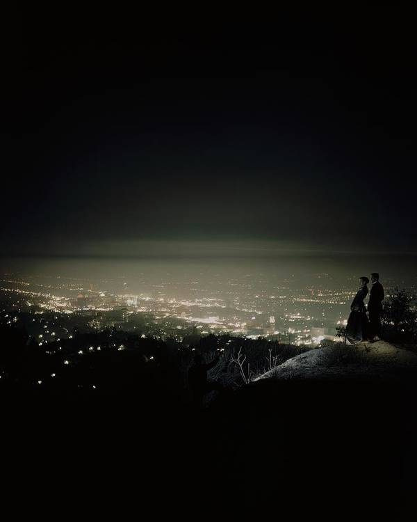 Outdoors Poster featuring the photograph A City At Night by Constantin Joffe