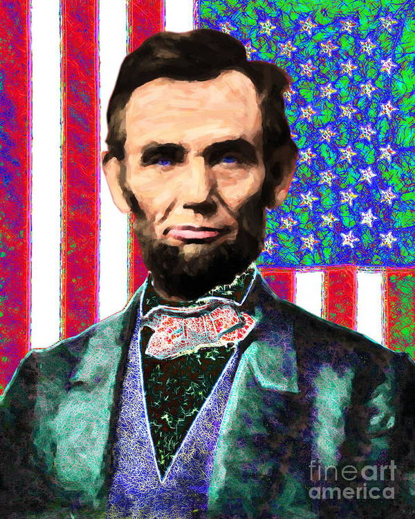 Civil War Poster featuring the photograph Abraham Lincoln 20130115 by Wingsdomain Art and Photography