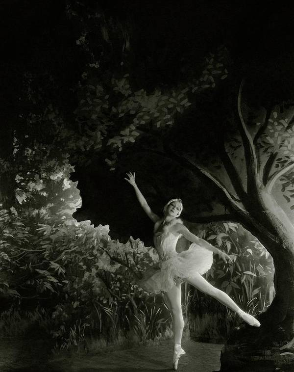 Costume Poster featuring the photograph Alexandra Danilova In Swan Lake by Cecil Beaton
