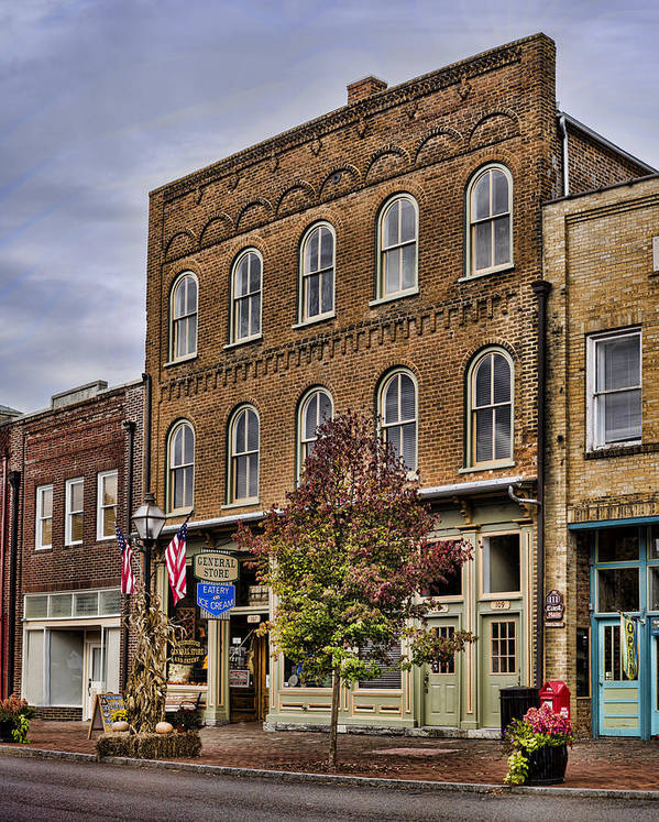 General Store Poster featuring the photograph Dowtown General Store by Heather Applegate