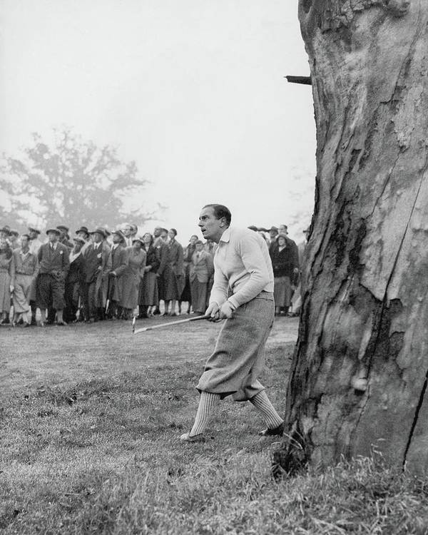 Exterior Poster featuring the photograph Henry Cotton Playing Golf by Keystone Press Agency Ltd