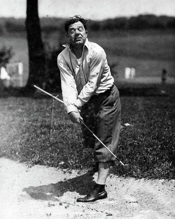 Political Poster featuring the photograph Huey P. Long Play Golf by Artist Unknown