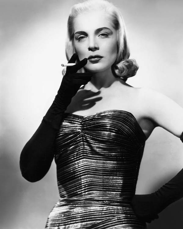 1940s Portraits Poster featuring the photograph I Walk Alone, Lizabeth Scott, 1948 by Everett