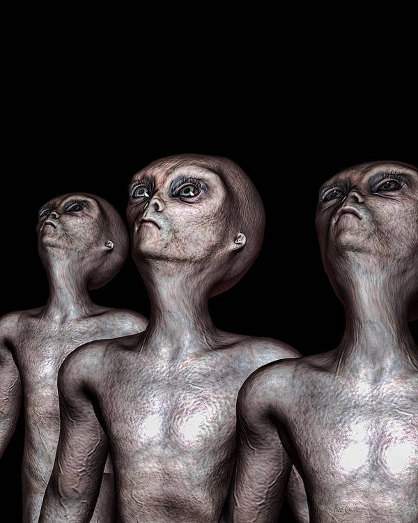 Alien Abduction Poster featuring the digital art If One Was Three by Bob Orsillo