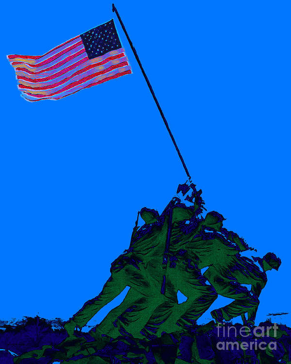 Iwo Jima Poster featuring the photograph Iwo Jima 20130210m88 by Wingsdomain Art and Photography