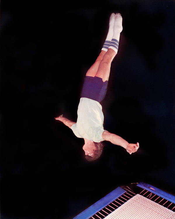 Trampoline Poster featuring the photograph Lay Out by Mike Flynn