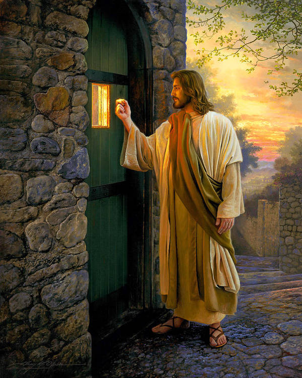 Jesus Poster featuring the painting Let Him In by Greg Olsen