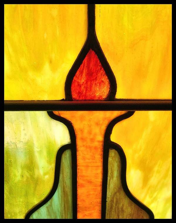 Stained Glass Poster featuring the photograph Stained Glass 8 by Tom Druin