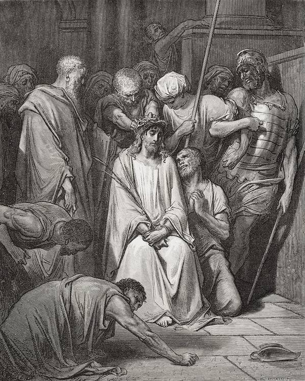 Jesus Christ Poster featuring the painting The Crown Of Thorns by Gustave Dore