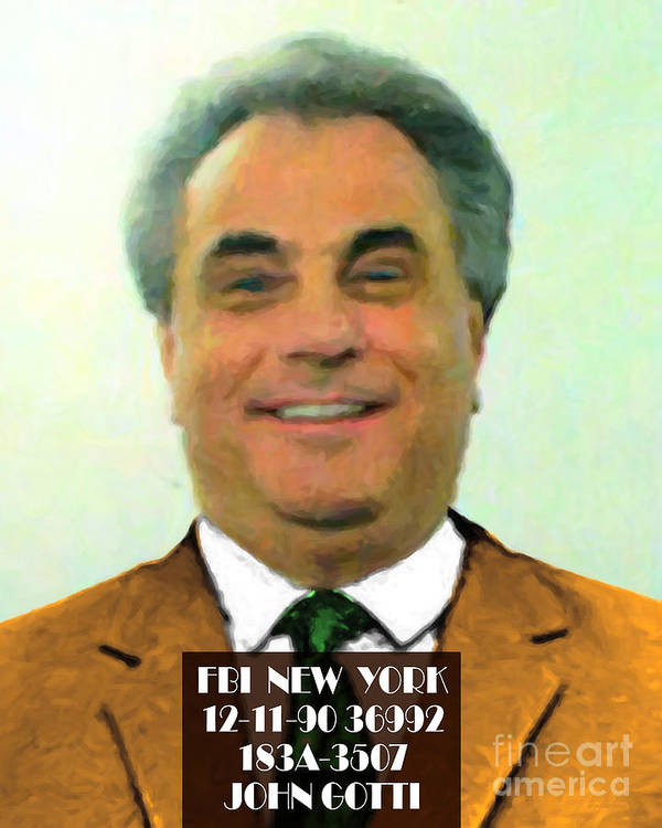 John Gotti Poster featuring the photograph The Dapper Don 20130812text by Wingsdomain Art and Photography