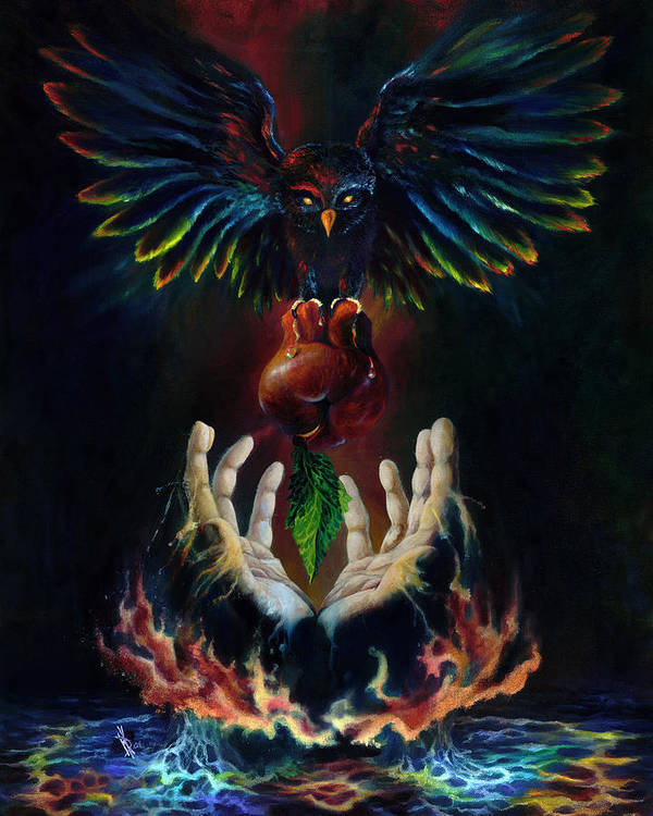 Metaphysical Poster featuring the painting The Gift by Kd Neeley