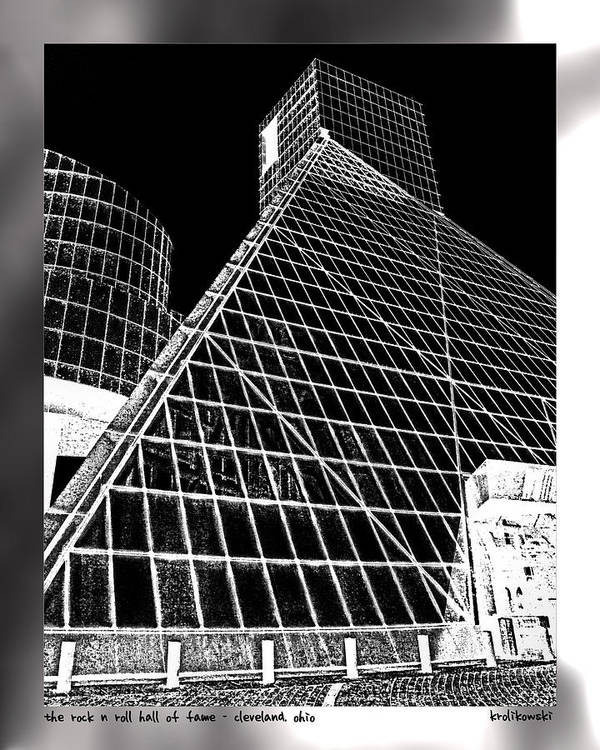 Cleveland Poster featuring the photograph The Rock Hall Cleveland by Kenneth Krolikowski