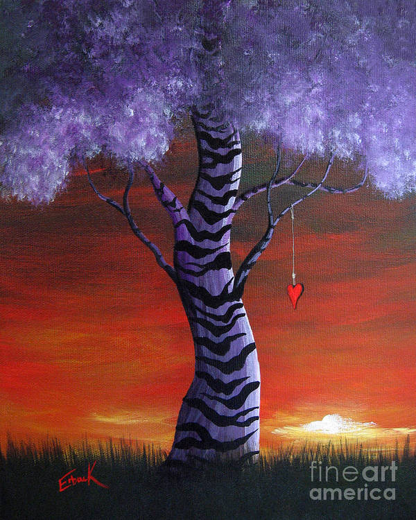 Landscape Poster featuring the painting You Gave My Heart A Home By Shawna Erback by Shawna Erback