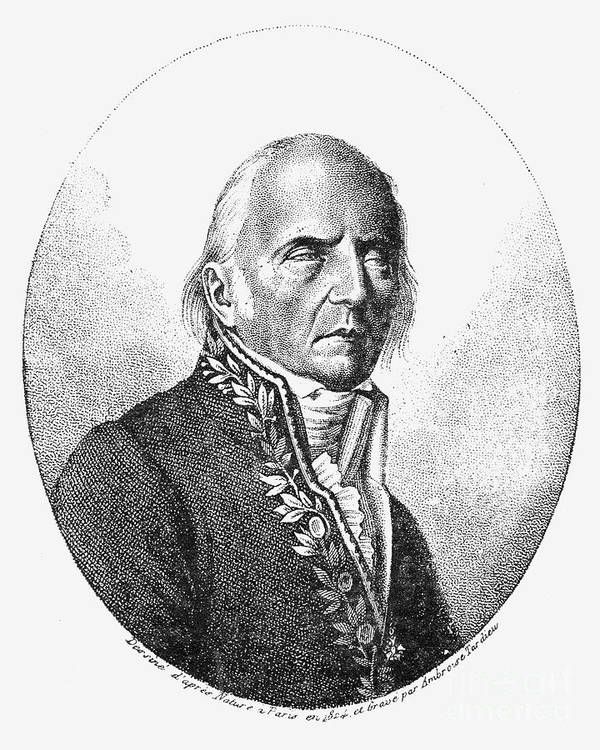 1824 Poster featuring the photograph Chevalier De Lamarck by Granger