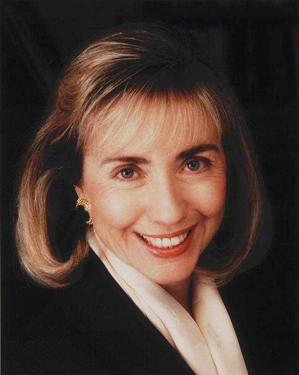 History Poster featuring the photograph First Lady Hillary Clinton In A 1992 by Everett